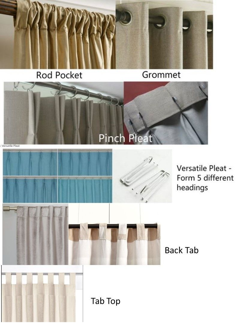 Natural Linen Curtains Pick Your Color Linen Curtains Sheer Linen Curtains Rod Pocket Curtains