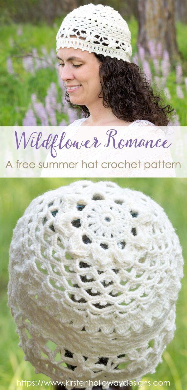 Wildflower Romance - A Crochet Lace Summer Hat Pattern | crochet ...