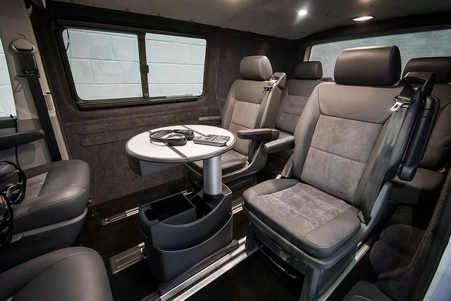 Caravelle Business Class Luxury Interiors | Mobil home office ...