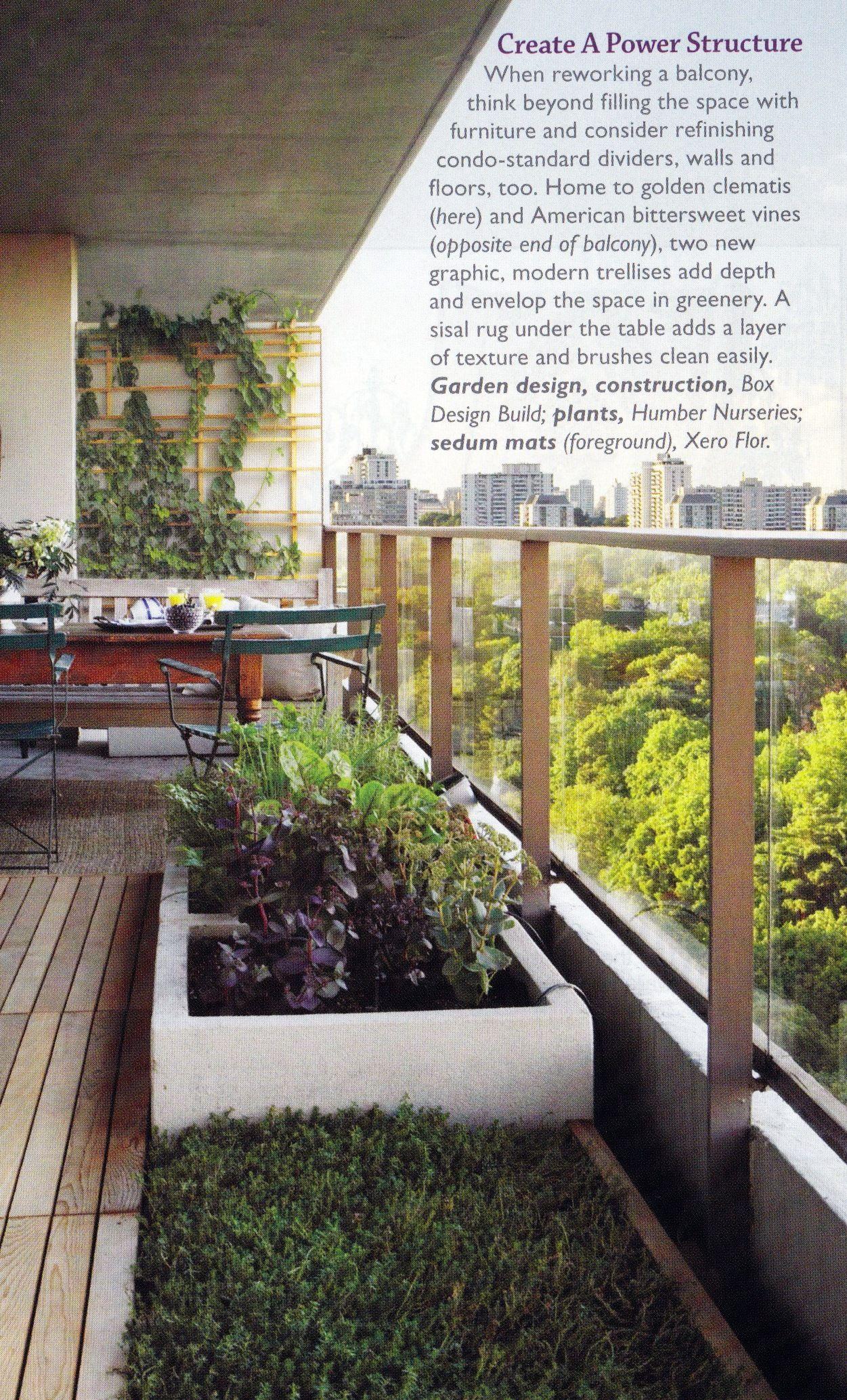 Modern Balcony Garden Terrace Balcony Garden Outdoor