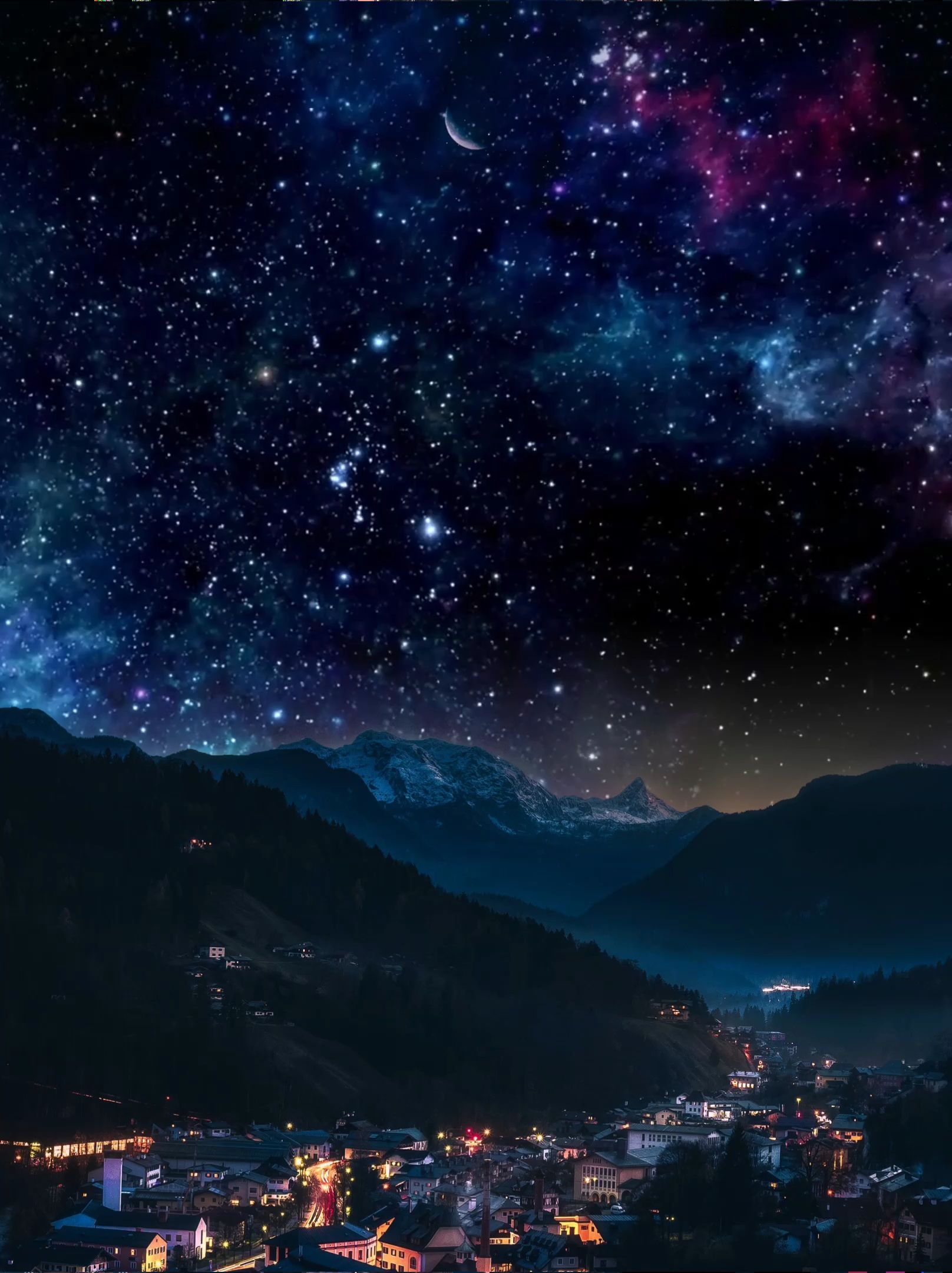 Animation Animations Live Wallpaper Small Town Night Sky Wallpaper Anime Backgrounds Wallpapers Live Wallpaper Iphone Galaxy wallpaper live photo