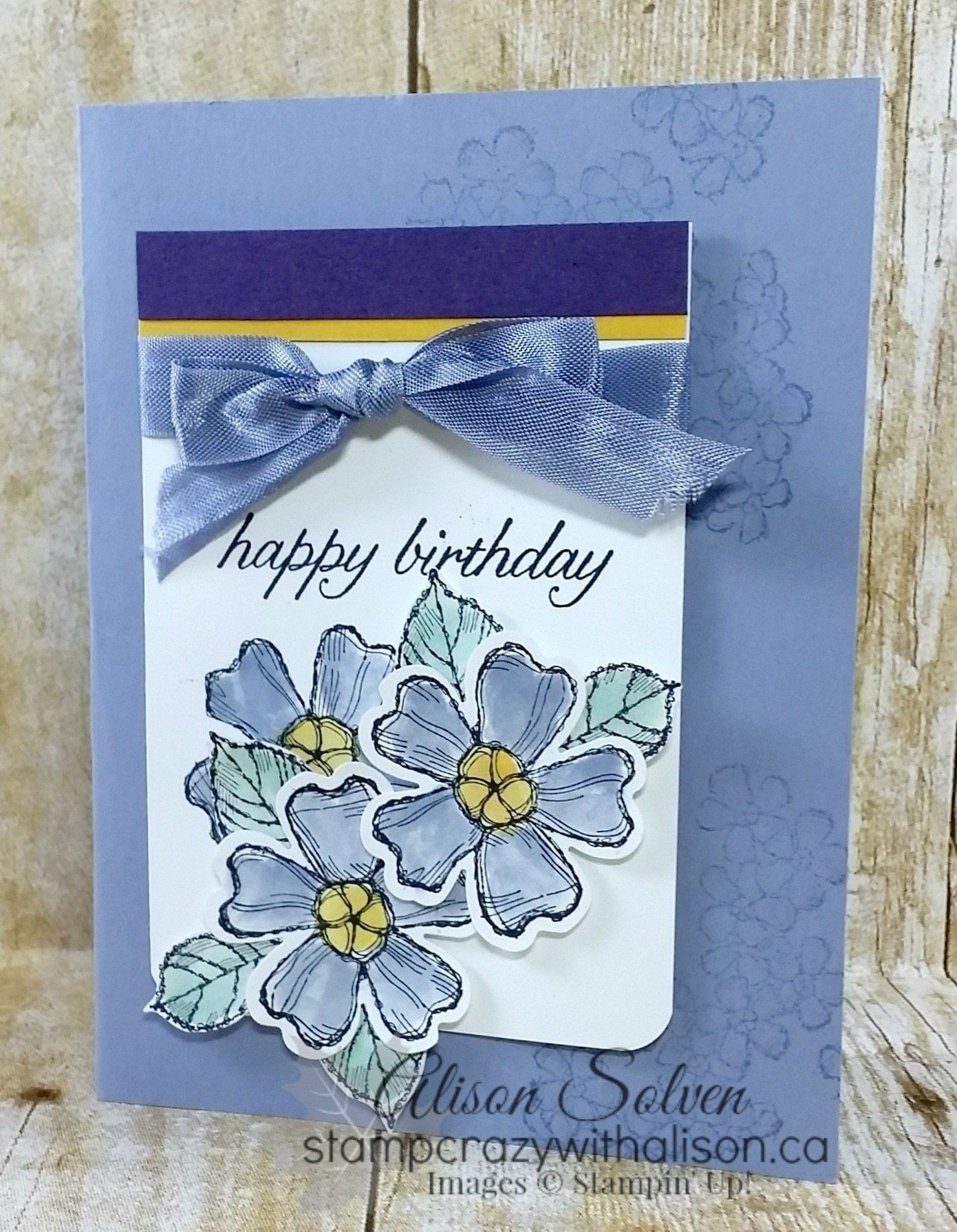 Birthday Blossoms Papercraft Tutorials And Birthdays