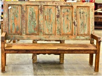 would be cool with fowler ton door. Bench made from old door and reclaimed wood. & Bench made from old door and reclaimed wood   diy   Pinterest ...