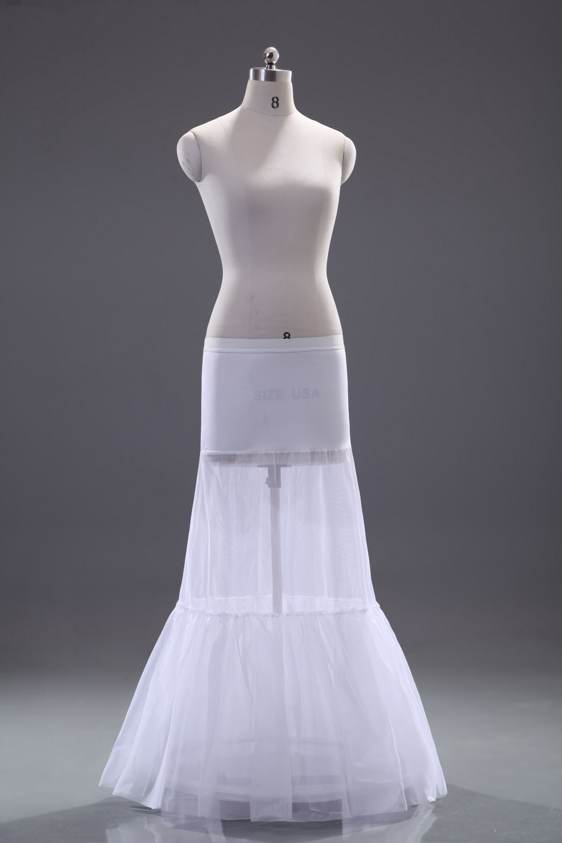 Apparel, Beautiful Mermaid Style Organza Single Wire Wedding Petticoat, Accessories,28.99