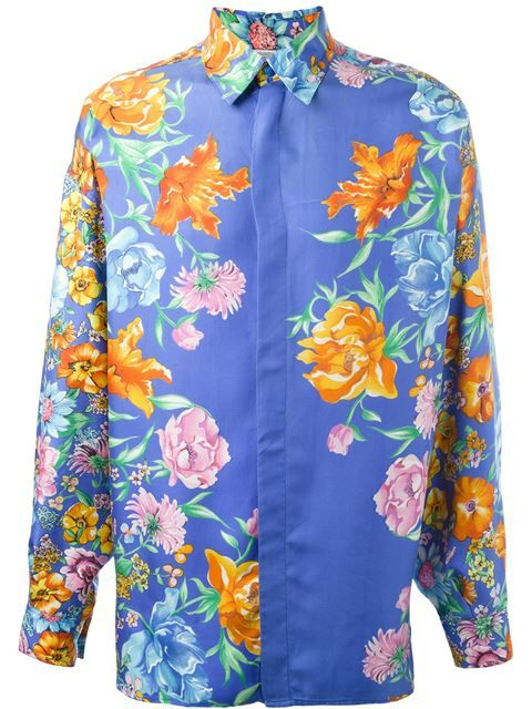 b10891ae2d9 Shop Versace Vintage floral print shirt in A.N.G.E.L.O Vintage from the  world's best independent boutiques at farfetch.com. Shop 400 boutiques at  one ...