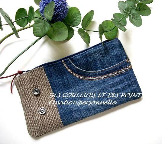 trousse jean s et lin face bis couture pinterest cabas jeans et cr er. Black Bedroom Furniture Sets. Home Design Ideas