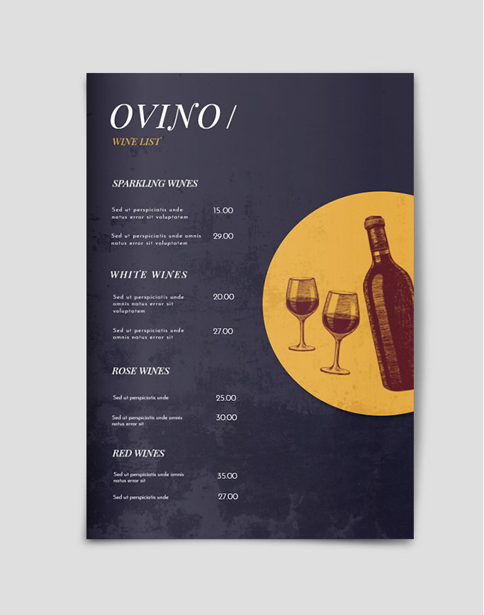 Wine Menu Template Menu Template Bar Menu Modern Wine Labels
