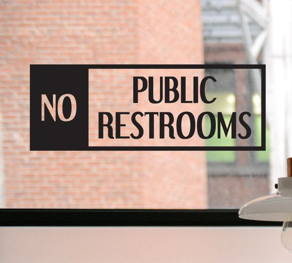 No public restrooms decal no public restrooms sign no public restrooms sticker business decal window sticker door decal window decal