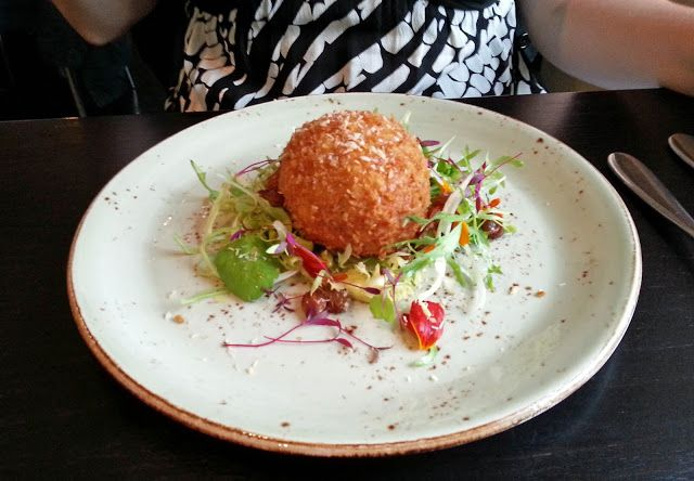 Southdown Farm scotch egg with curried mayonnaise - The Elephant, Torquay