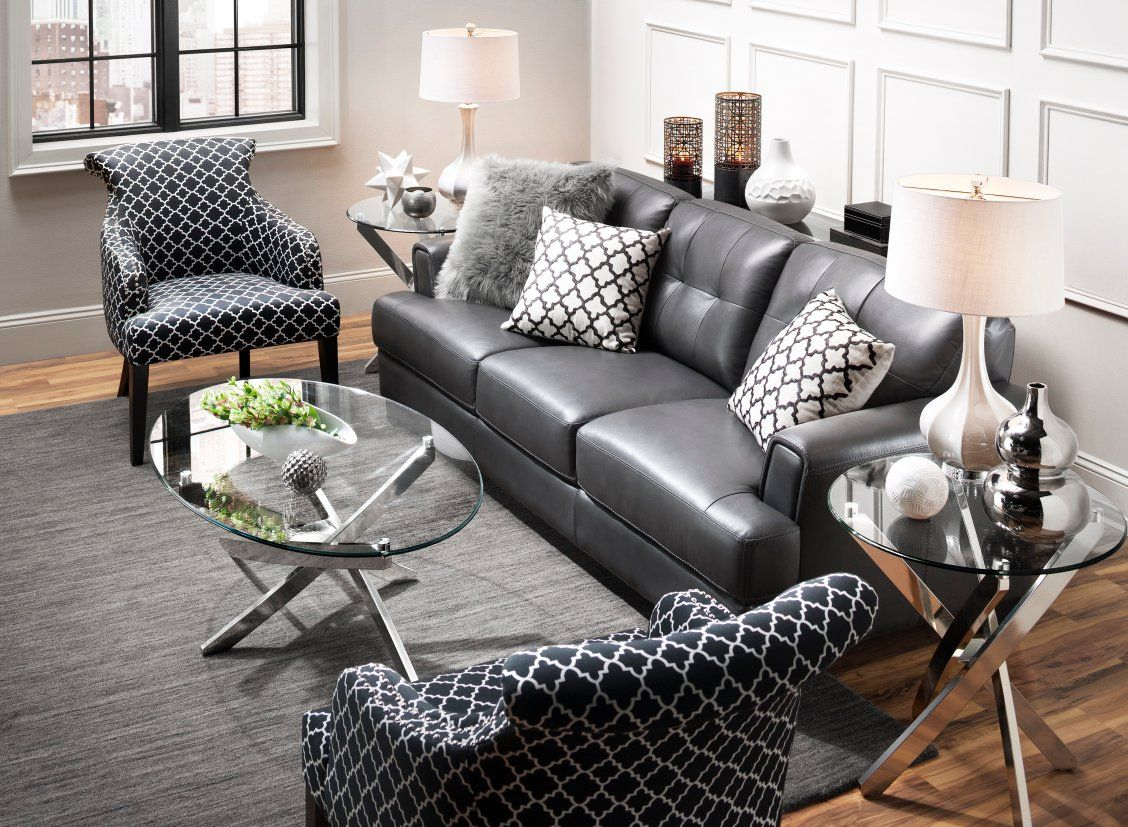 Benson Leather Sofa Black Sofa Living Room Decor Black Sofa