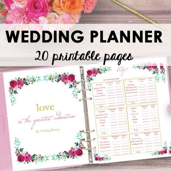 Wedding Planner Printable Wedding Planner Book Binder  Wedding