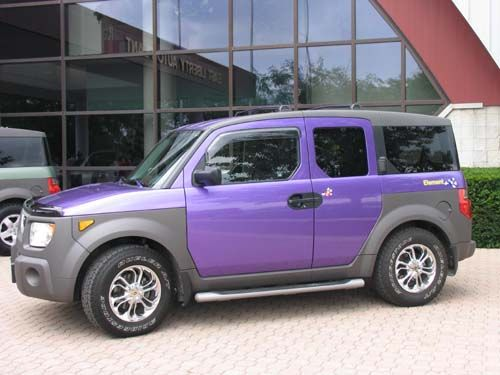 Honda Element | Custom | Purple cars | Honda | Schomp