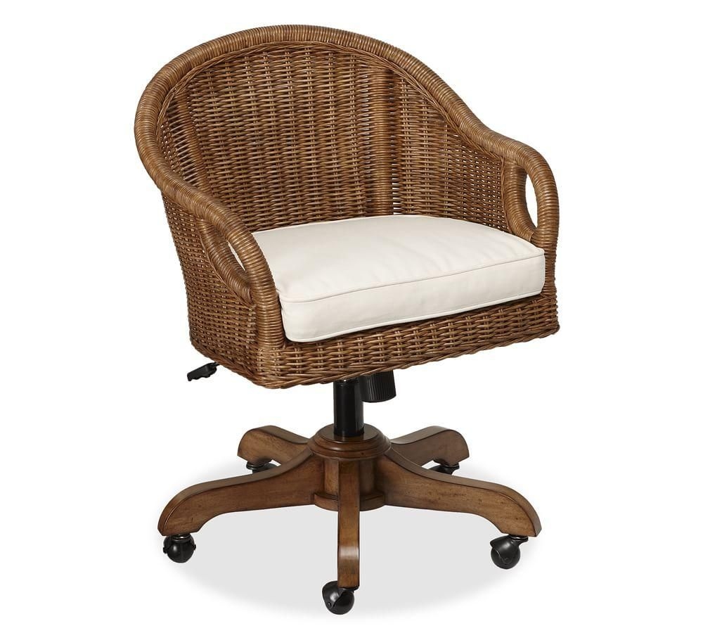 wingate rattan swivel desk chair pinterest rattan desks and rh pinterest com Home Office Furniture Desks Home Office Furniture Collections