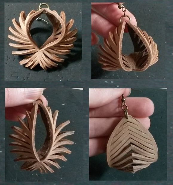 Photo of Transformable Leather Sculpted Earrings