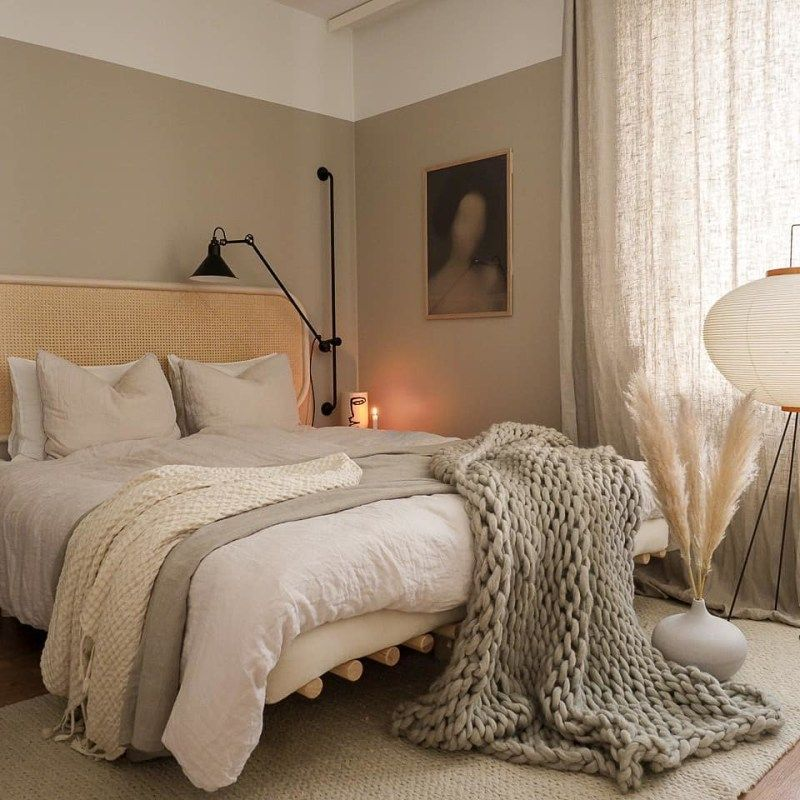 Neutral Color Schemes Are Having A Big Moment On Instagram Beige Bedroom Bedroom Styles Stylish Bedroom Furniture