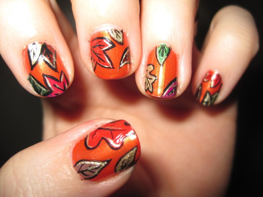 10 Thanksgiving Nail Art Design To Try | Thanksgiving nails, Autumn ...