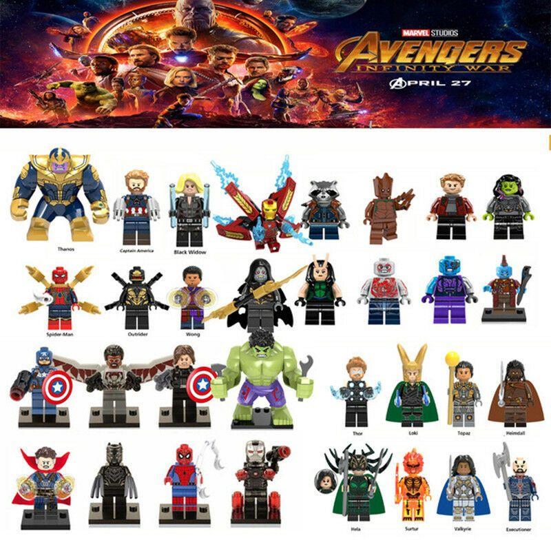 Doctor Strange Marvel Avangers Infinity War Thanos Super Heroes Building Blocks