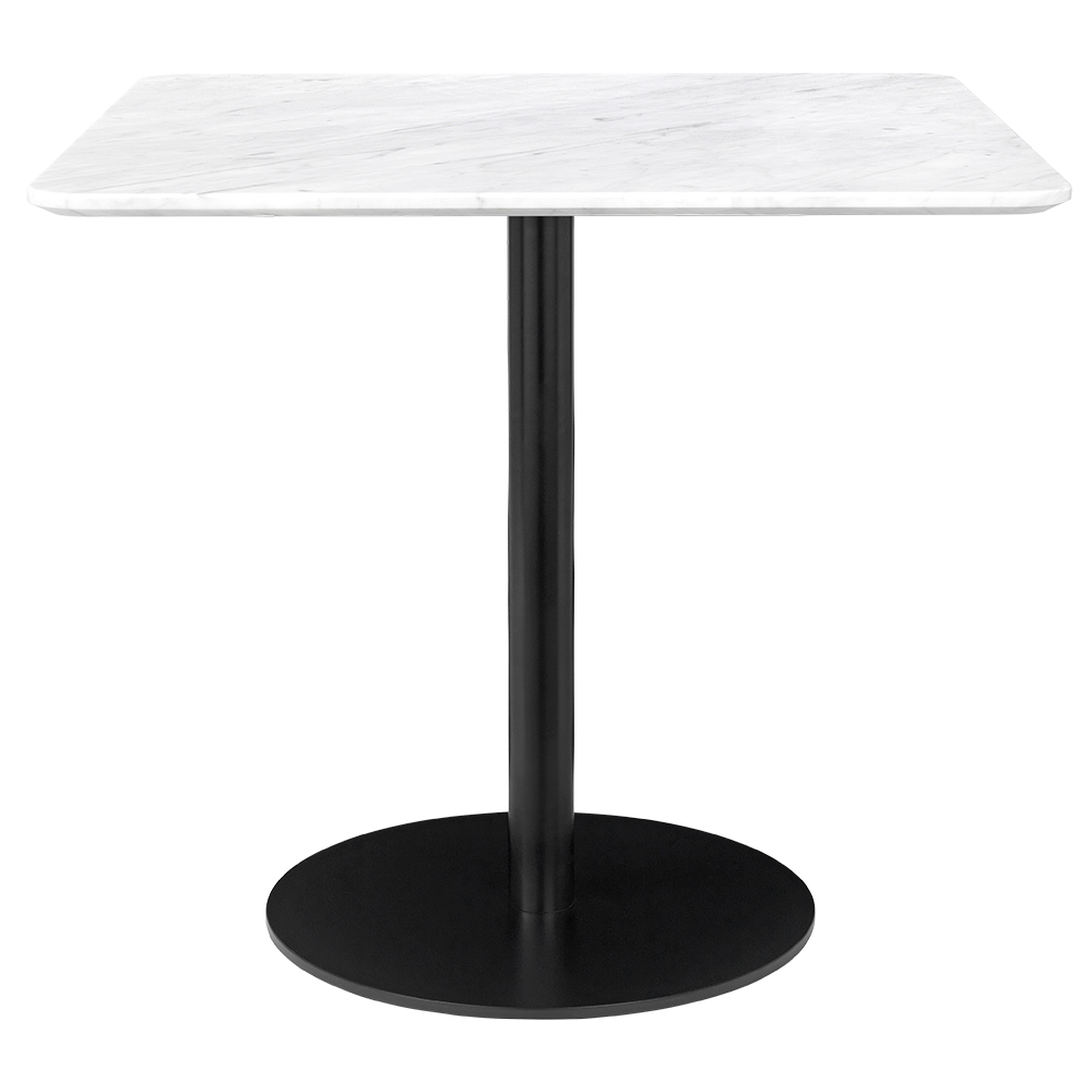 1 0 Square Dining Table White Marble Black Rouse Home In 2020 Marble Dining Table Set Dining Table Marble Small Square Dining Table