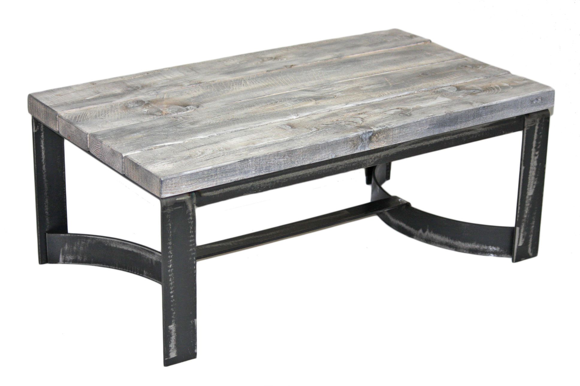Table De Centre En Pruche Table Living Room Acier Steel  # Meuble Living En Bois