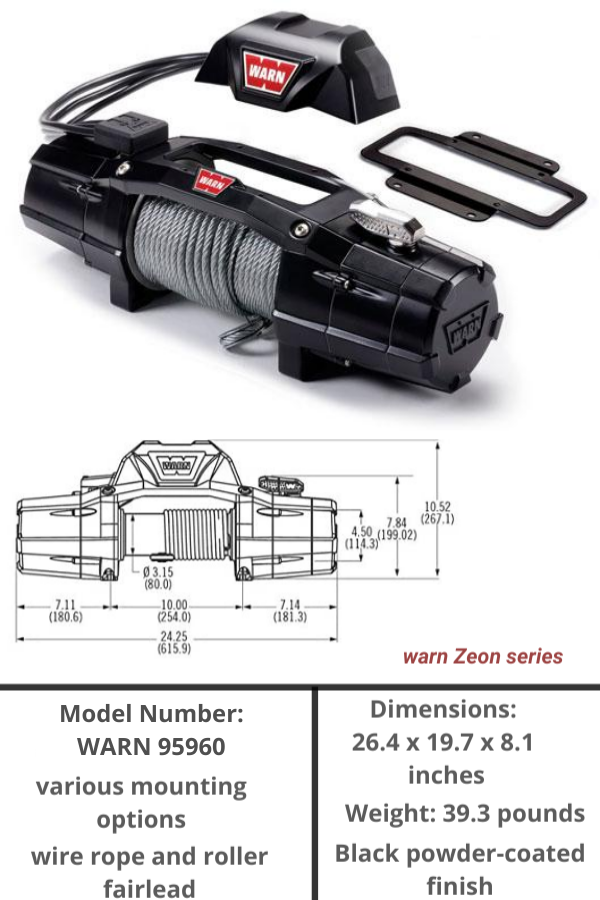 Warn 95960 Zeon 12000 Lbelectric Winch Electric Winch Winch Best