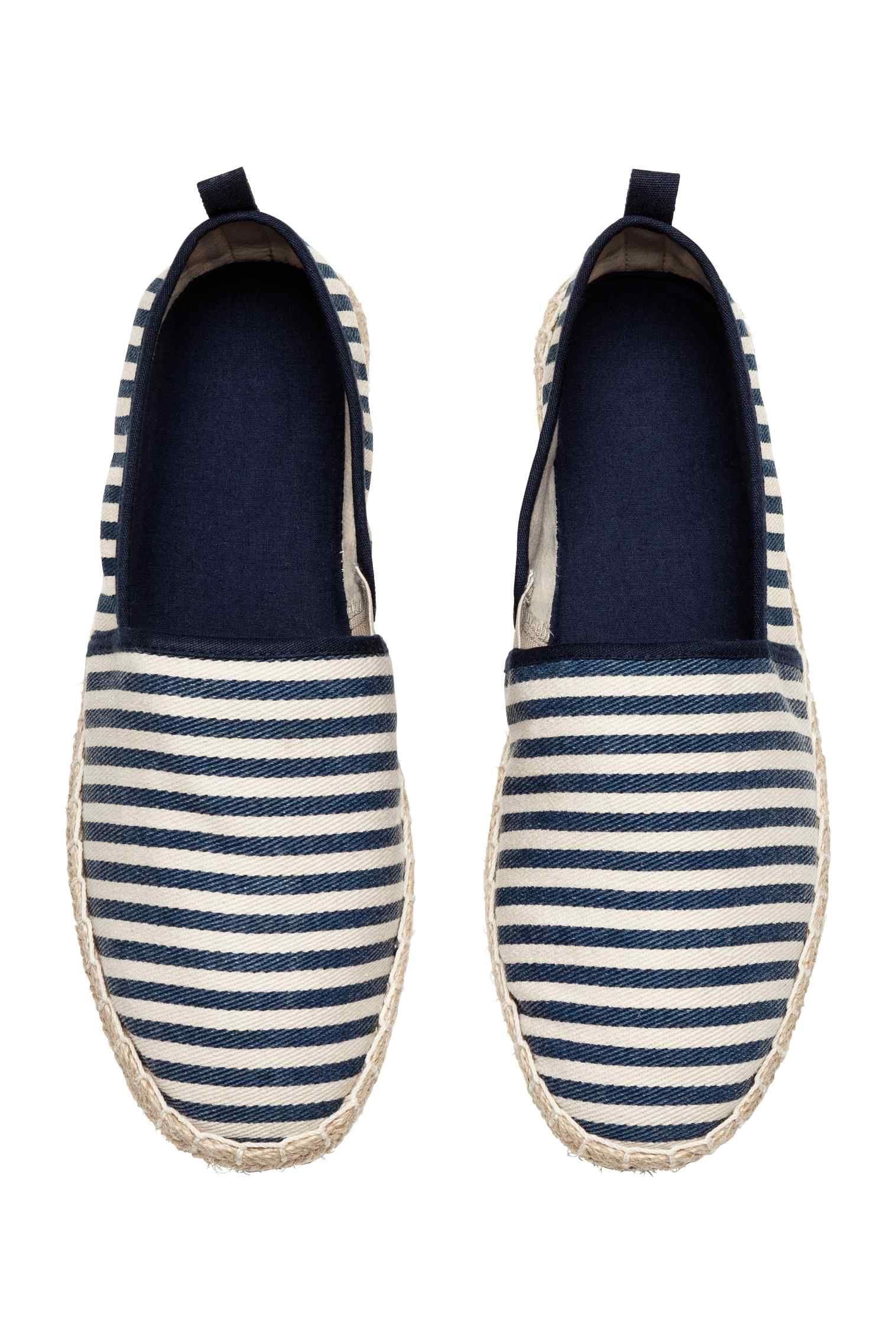 c9db373077bae0 Espadrilles - Dark blue Striped - Men