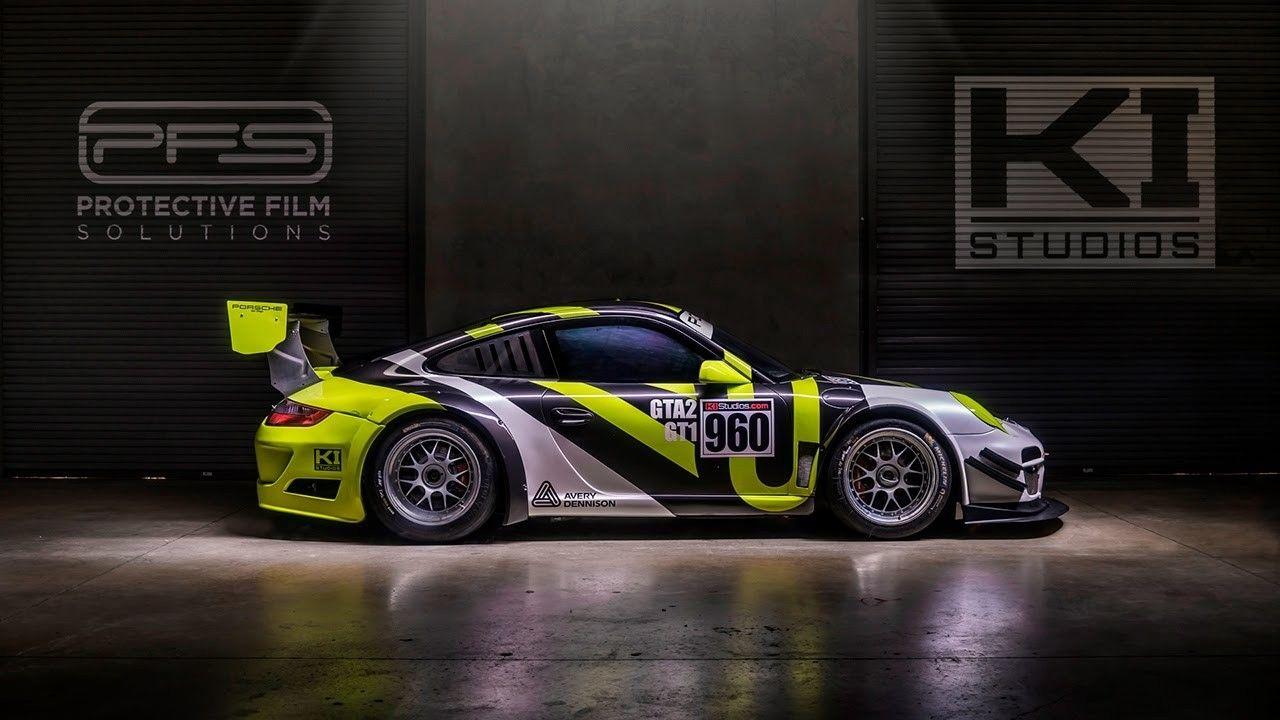 Avery Dennison Porsche GT3 Cup Car Race Livery Wrap   Race