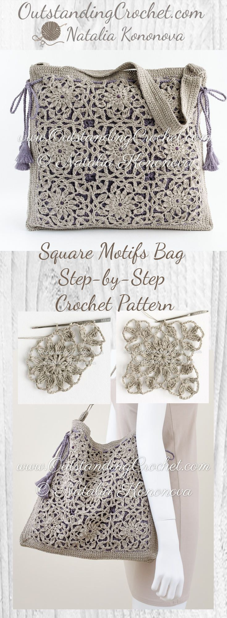 Square Motifs Shoulder Bag Step-by-Step Crochet Pattern at ww ...