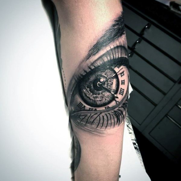 Eye Tattoos For Men Eye Tattoos For Men Forearm Tattoos Clock