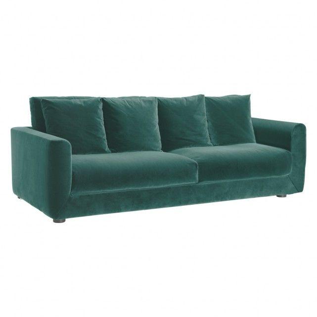 buy sofa uk fufsack black sleeper lounge chair rupert emerald green velvet 3 seater bed now at habitat
