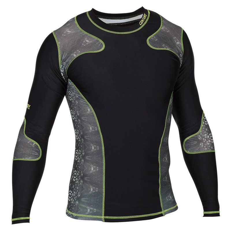 299d4a688a Century Mens Long Sleeve Rash Guard Black - 04707-010216
