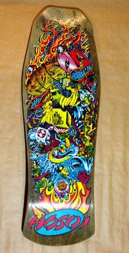 Christian Hosoi Santa Cruz Hammerhead Collage Skateboard