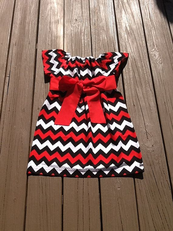 Girls Game Day Peasant Dress OR top & fabric by EverythingSorella