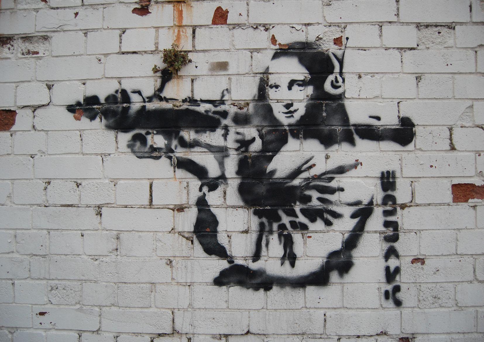 Poster Print Banksy A4 Graffiti Poster A3