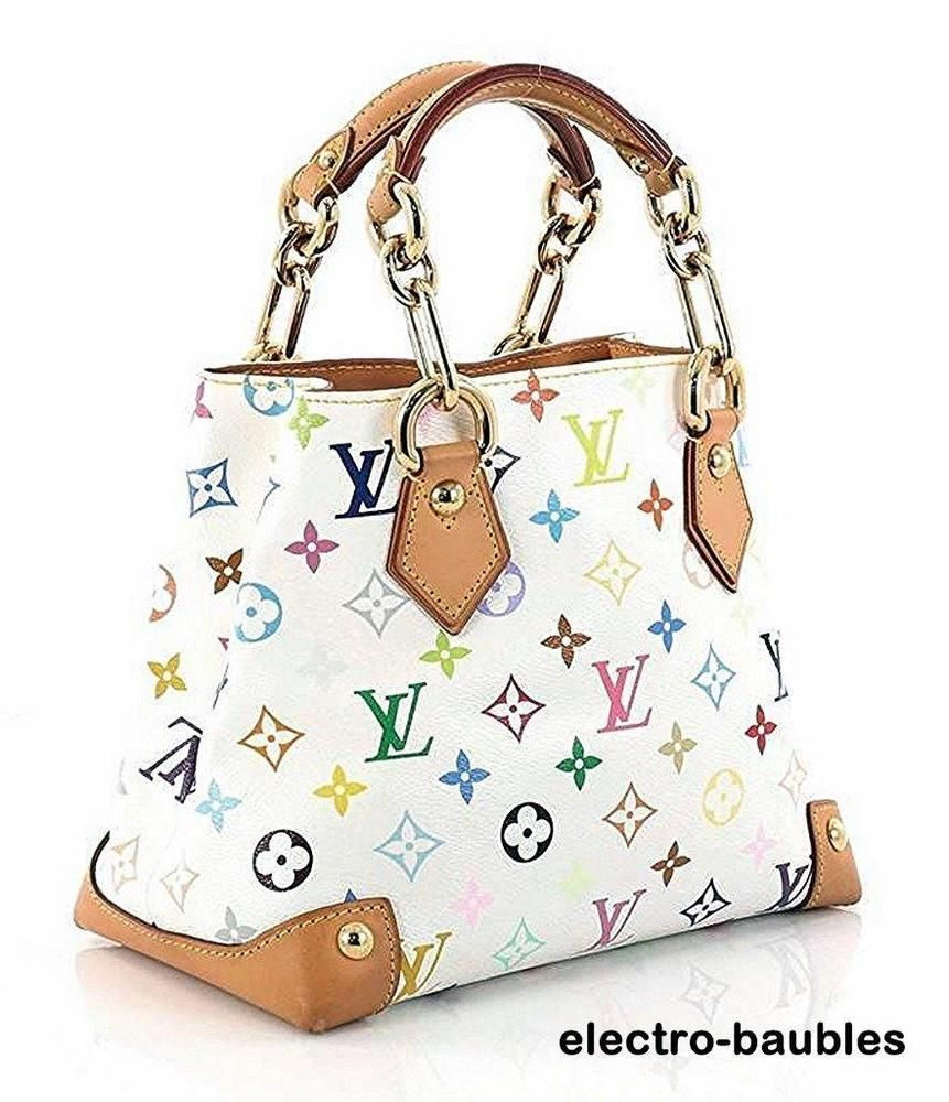 SOLD!! AUTHENTIC Louis Vuitton Multicolore White Audra with Charm - Very Good Condition #LouisVuitton #Audra