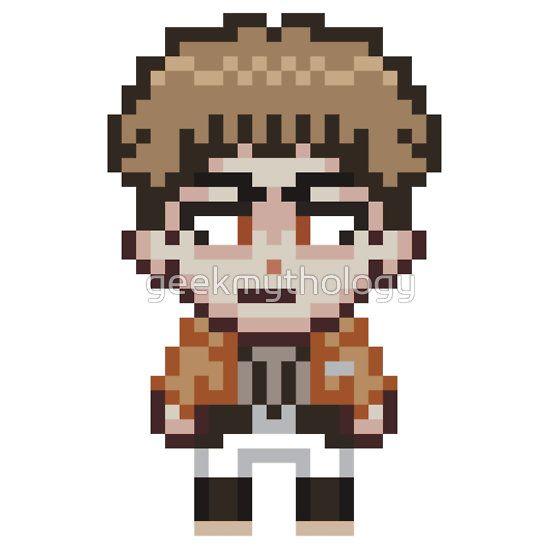 attack on titan jean kirstein pixel sprite chibi by