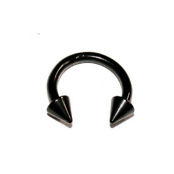 Black Horseshoe Septum Ring 1 6mm Spike Liked On Polyvore