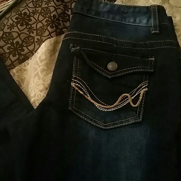 Dark skinny jeans Brand new jeans, bought but they were too big so they have been in the drawer for almost a year. Rue 21 Jeans Skinny