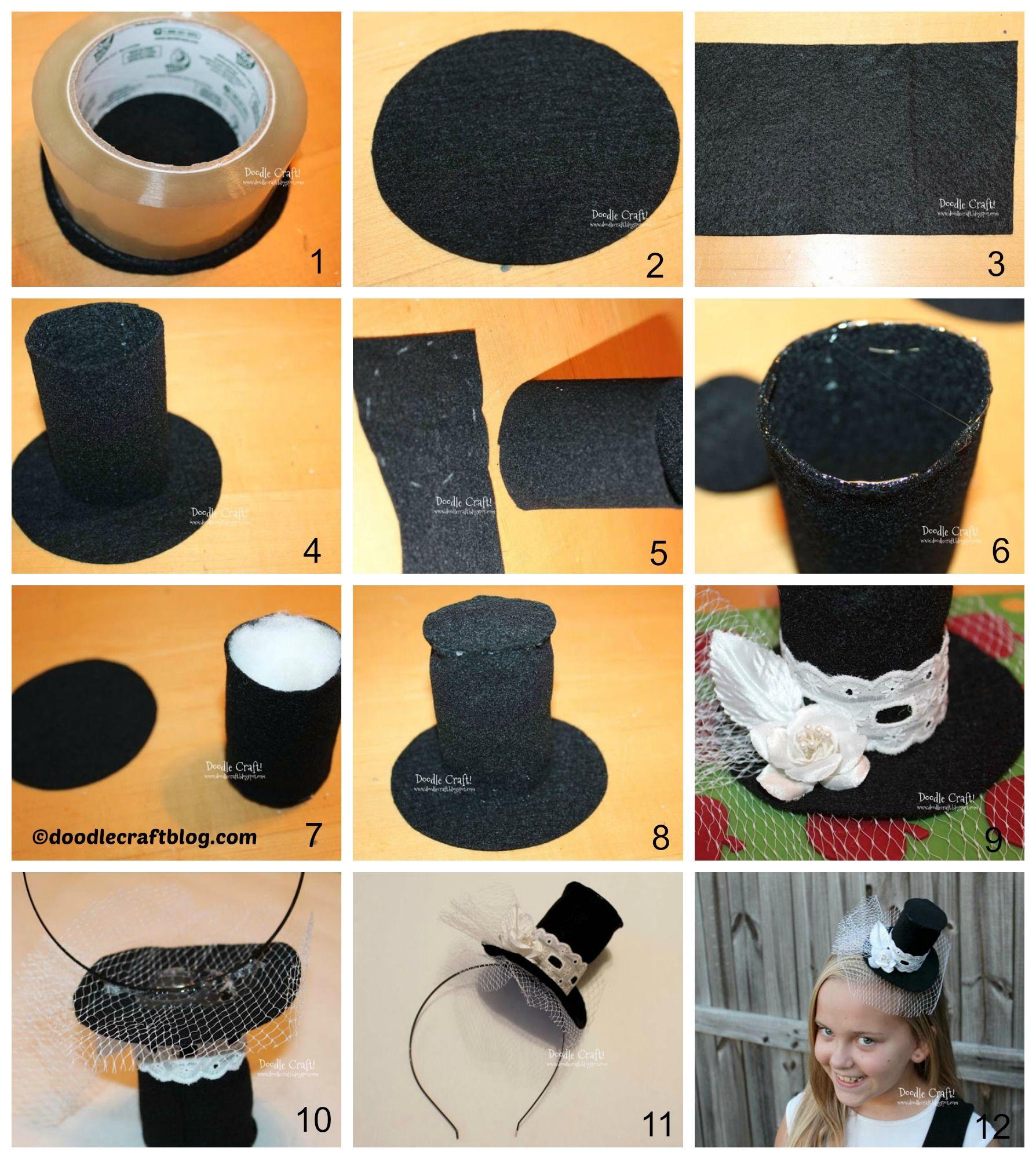 How to make a Mini Top Hat Headband  b771d2dd588