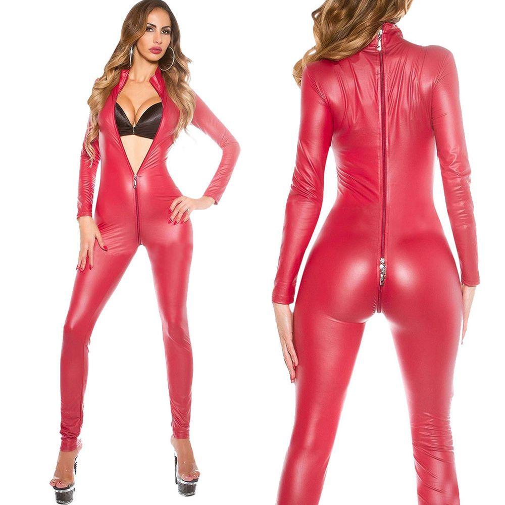 Women Wet Look Tops Short Sleeve Crop Clubwear PU Leather Tank Shirts Size M-2XL