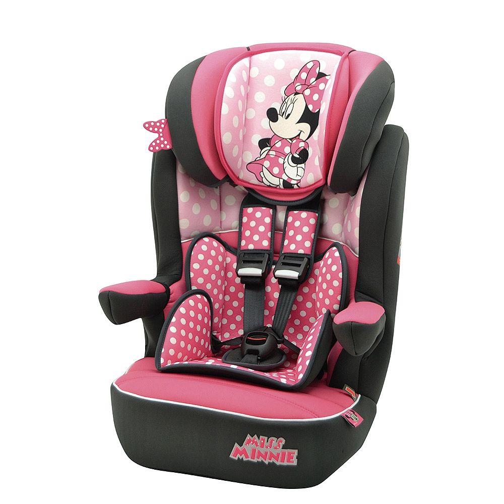 Minnie Mouse Silla Auto Imax Grupo 1 2 3 De 9 A 36 Kg Cochecitos Para Bebés Niñas Asientos De Coche De Bebé Regalos De Cumpleaños Para Niños