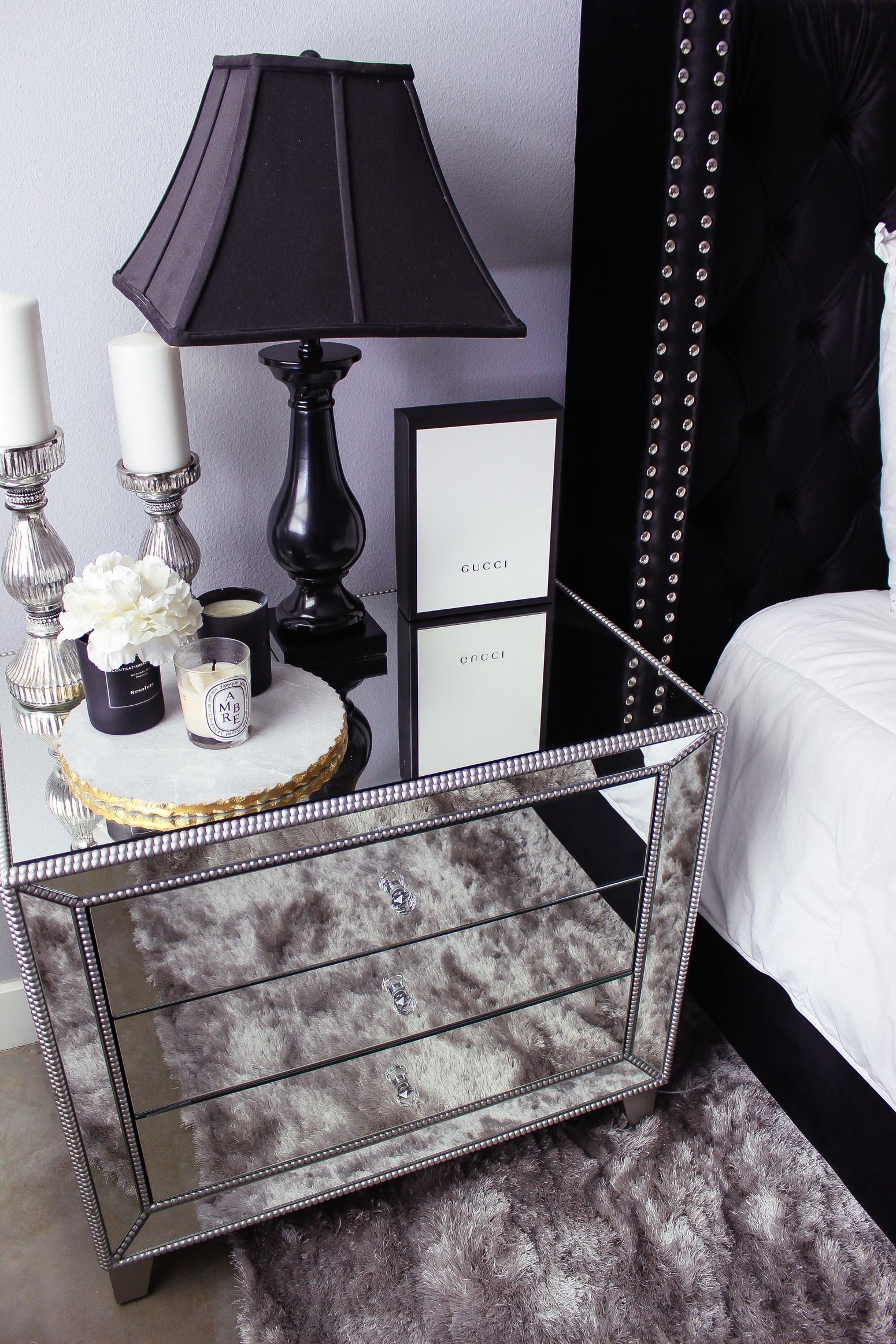 Black White Bedroom Decor Reveal White Bedroom Decor Glam Bedroom Decor Master Bedrooms Decor