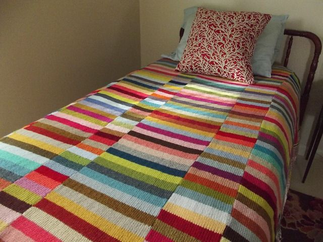 Stripy leftovers blanket