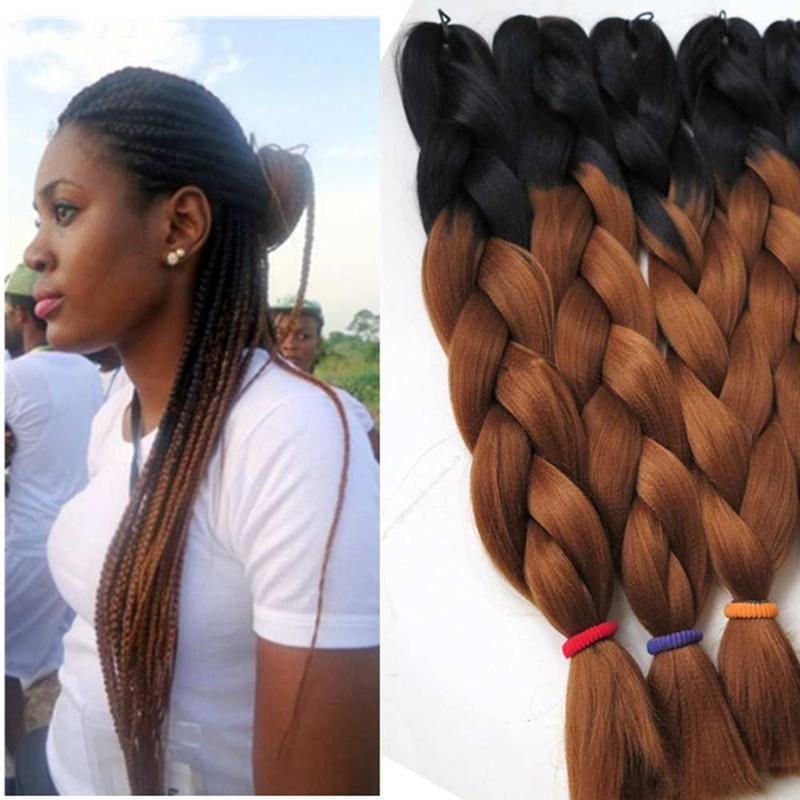 2019 Kanekalon Synthetic Braiding Hair 24inch 100g Ombre