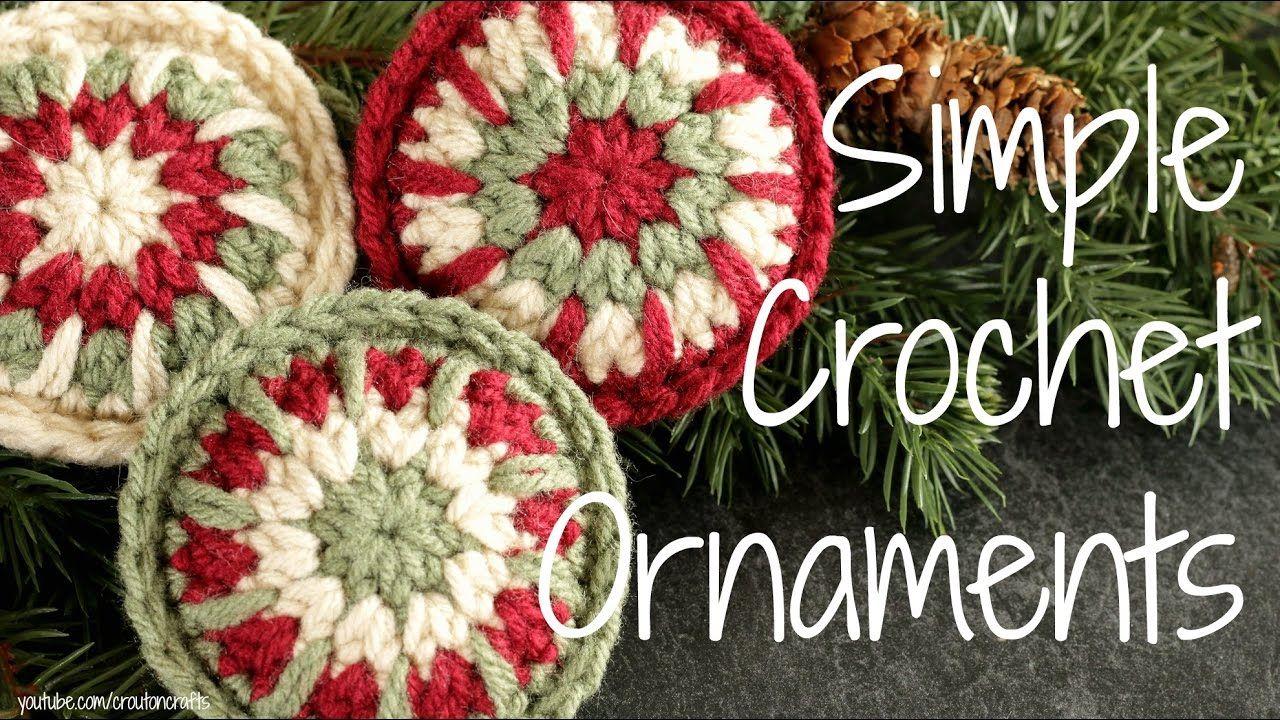 Simple Crochet Ornaments Crocheted Christmas Ornament Tutorial Christmas Crochet Crochet Christmas Ornaments Crochet Xmas