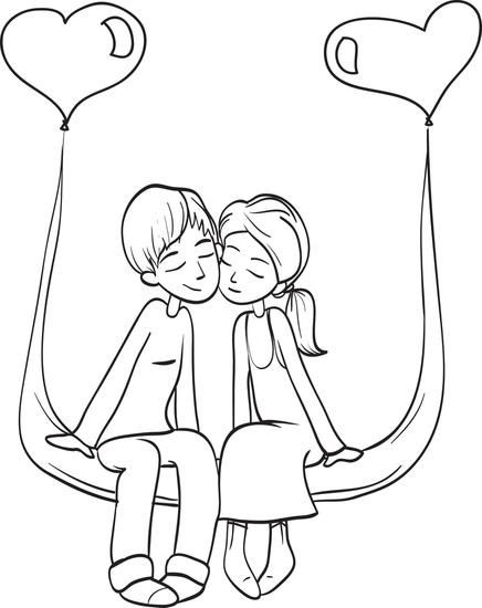 Valentine S Day Couple Coloring Page 4 Valentines Day Coloring Page Love Coloring Pages Valentines Day Coloring