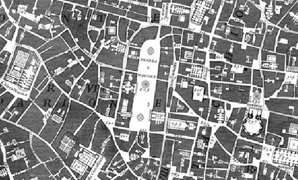 roma nolli map 1748 places spaces Pinterest Site