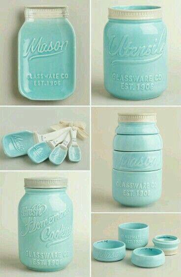 Mason Jar Themed Kitchen