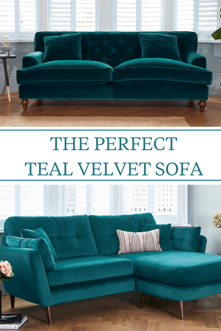 Teal Sofas Teal Velvet Sofas Even Are The Perfect Home Decor Piece For The Autumn And Winter It S The Teal Sofa Living Room Teal Sofa Velvet Sofa Living Room