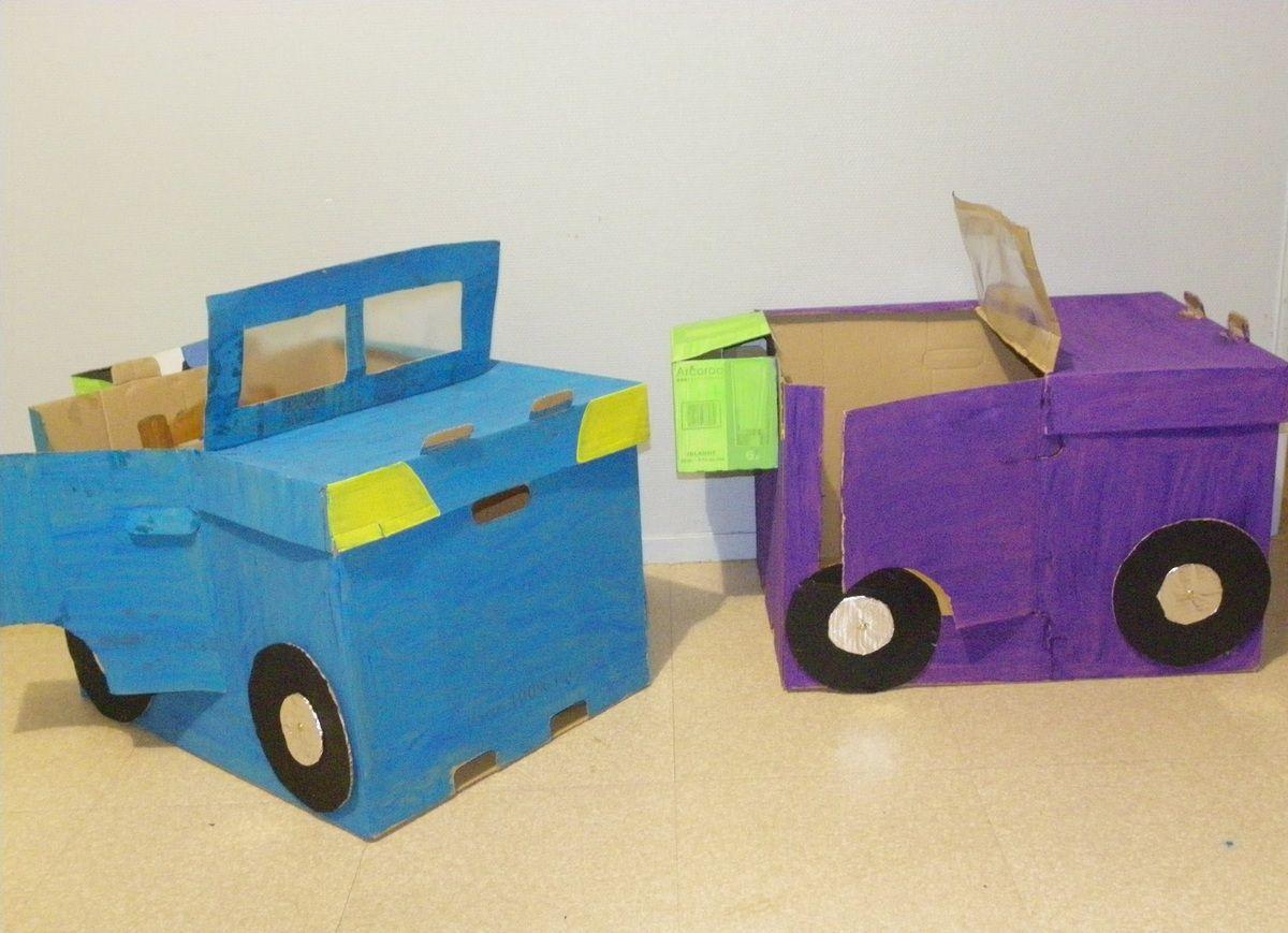 Suuuurprise lol gros travail fabrication de voiture en carton se salir pour bien grandir - Fabrication maison en carton ...