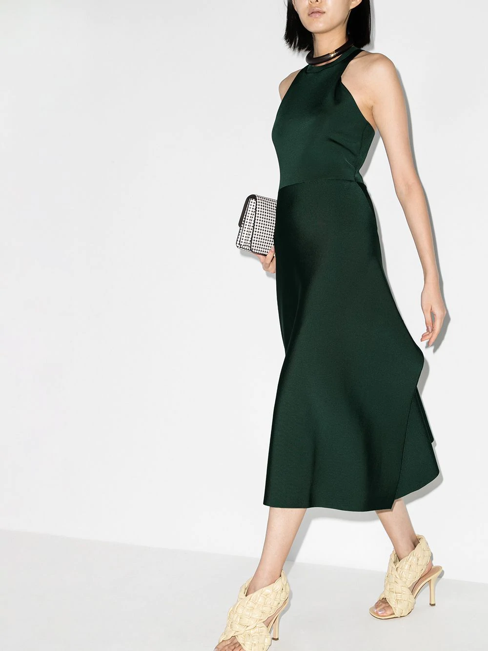 Victoria Beckham Racerback Midi Dress Farfetch Racerback Midi Dress Midi Dress Dresses [ 1334 x 1000 Pixel ]